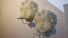 Beautiful large pair of angels-decor wall candles