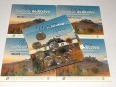 Slovakia KMS 2016 UNESCO World Heritage Levoca, Spiš Castle BU (5 sets)