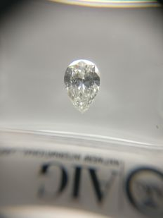 0.50 ct Pear cut diamond D IF