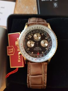 Krug Baumen Air Traveller 8x Diamond Stoned Face Designer Watch