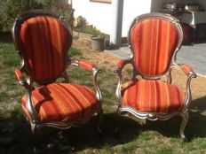 Two fauteuils armchairs