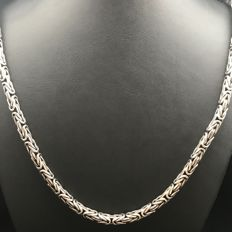 79 g 925 solid silver men's king's braid link necklace 60 cm