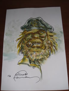 Hermann - Original drawing in colour - Barney