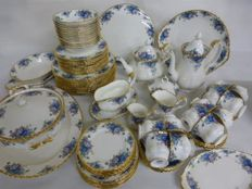 "Beautiful Tableware Royal Albert Edition ""Moonlight"" Bone china - 72 pieces"