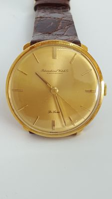 IWC - International Watch Company 18K solid gold watch - De Luxe - Men's - 1960's