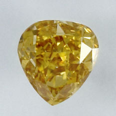 0.40 ct Natural Yellow Diamond VS2 'untreated diamond, very low reserve price'.