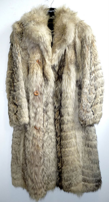 Rarity - mens' fur coat - coyote fur coat - rare - vintage