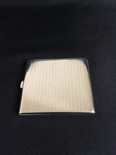 Silver continental cigarette case , stamped 800