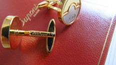 S.T. Cufflinks DuPont in gold and palladium stellate (matte)