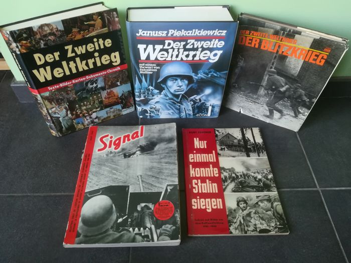 WW II; Lot with five publications about WW II and the Third Reich - 1952/1995