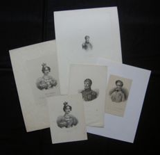 Various artists (19th century) - lot consisting of 5 portraits of Napoleon's family