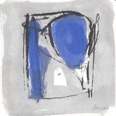 Pierre Salvan - Composition bleue
