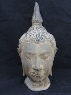 Bronze Buddha head - Thailand - late 20th century