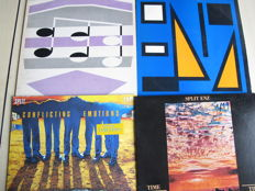 Nice Lot with 6 Albums of Split Enz & Crowded House (1 rare version)