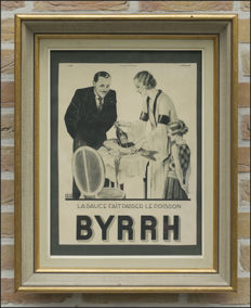 BYRRH: authentic publicity (1932) in beautiful frame.