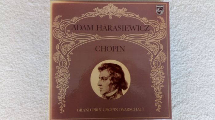 A very rare and special classic boxset with 14 records. Adam Harasiewicz plays Chopin.