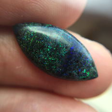 Natural Black Matrix Opal - 20 x 10 x 3 mm - 3.5 ct
