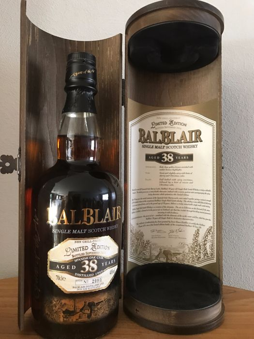 Balblair 1966 - 38 years old - Spanish Oak Cask - Limited Edition