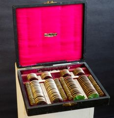 Case of medical instruments - Optometric set for eye tests - J. Pohl, The Hague, Amsterdam