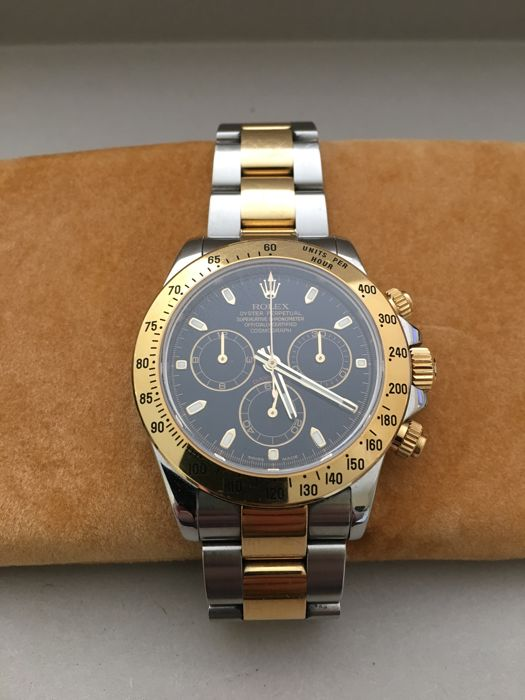 8e58d8c6b01 Rolex Daytona Cosmograph Steel and Yellow Gold Black Dial - Catawiki