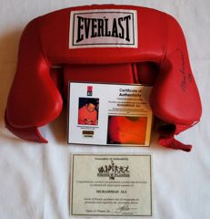 Muhammad Ali Signed Everlast Boxing Headgear Autographed certified COA with photo proof. No reserve Price!