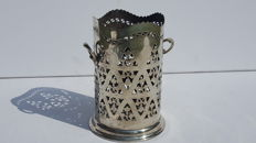 Antique silver plated wine/champagne bottle holder -ca.1920