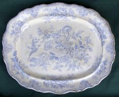 "Wedgwood - Large tray ""ASIATIC PHEASANT"" - 1840/50"