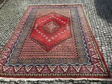 Old Maroko Rug Hand knotted 300x204 cm with Patina Colors - Unique Design