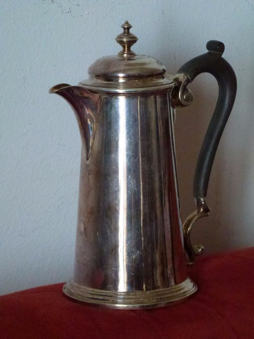Sheffield Silver Coffee pot- Martin Hall & Co - The letters inside a hexagonal shape date back the object between 1854 and 1866 - Sheffield Factory; Showroom in London, Sydney, Birmingham and Glasgow. - 1854