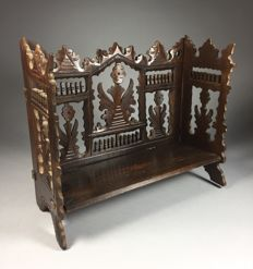 Softwood etagere with openwork decor - France - ca. 1900