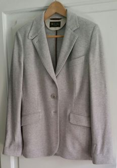 LORO PIANA - Light grey 100% cashmere jacket