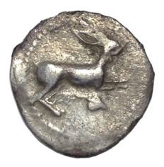 The Greek Antiquity - Sicily, Messana (ca. 438-434 BC) - AR Litra (12,5mm; 0,42g.) - Hare / MEΣ legend - SNG Copenhagen 411 - Scarce