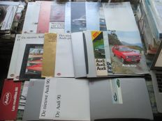 Car brochures (Audi, inclusive coupe/50/90/100, 25x, 1972-1997)
