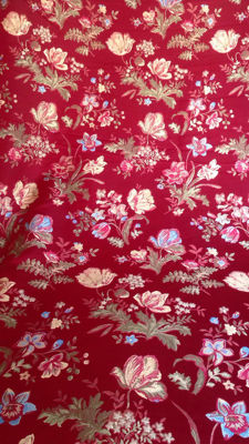 Majestic damask lampas san leucio fabric, 6.00 m, with with golden thread, Italy, 20th century