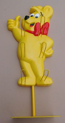 "Sweets: ""Haribo bear"" plastic store display / 2nd half 20th century"