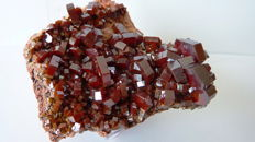 Vanadinite crystals -  8 x 6 cm - 180 g