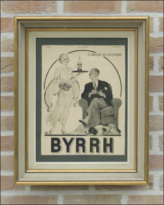 BYRRH : Authentic publicity (1932) in beautiful frame.