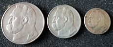 Poland - 2, 5 and 10 Zlotych 1934 - silver