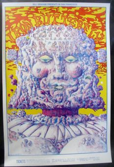 Iron Butterfly Fillmore West Poster San Francisco 1968 by Lee Conklin