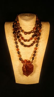 Baltic Amber 108 beads necklace, 150 grams