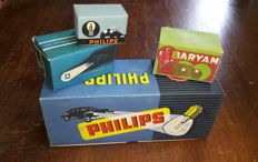 "Philips, Baryam and Jan Gast ""New Old Stock"" Oldtimer car lamps in beautiful original packaging - 13 lamps in 14 boxes"