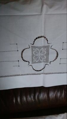 Sheets with Sicilian draw thread work, 1940s / 50s