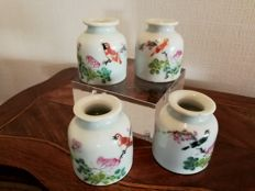 Hand-painted inkwells - China - first half of the 20th century (Republic period)