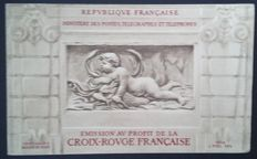 France 1952 - Red Cross booklet, 15 f. + 5 f. dark blue and red - booklet Yvert 2001