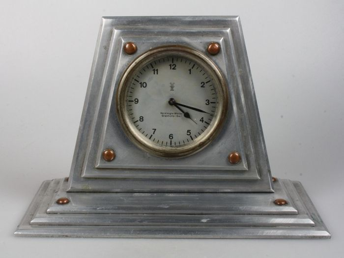Modernistic clock with movement Vereinigte Glashütte – First half 20th century