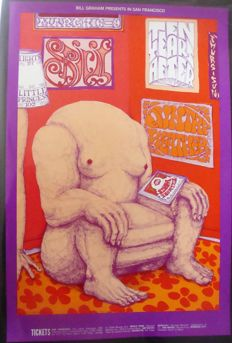 Ten Years After / Spirit  Fillmore West Poster San Francisco 1969 by Lee Conklin