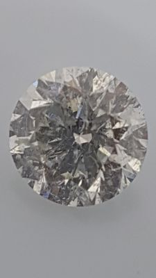 1.53 ct - Round Brilliant - White - F / SI1