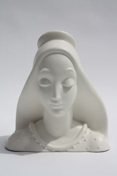Guido Cacciapuoti - G J  Elcod - Ceramic Bust of a Young Lady