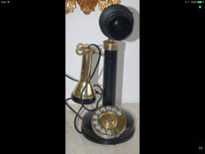 Beautiful working brass telephone - England - early 20th century