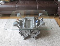 BMW V8 Engine Block Coffee Table - 80 x 80 x 40 cm, TopGear Style